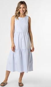 Niebieska sukienka More & More bez rękawów