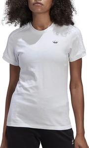 Bluzka Adidas z bawełny z krótkim rękawem z okrągłym dekoltem