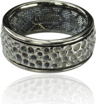 Kohha Obrączka srebrna Vesuvio Black