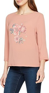 Różowa bluzka Trucco z okrągłym dekoltem w młodzieżowym stylu