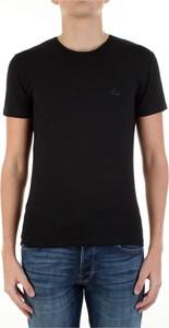 Czarny t-shirt Yes Zee z krótkim rękawem