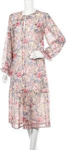 Sukienka Raga z długim rękawem z okrągłym dekoltem midi