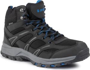 Czarne buty sportowe Hi-Tec sznurowane