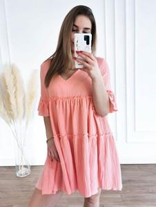 Sukienka Perfe.pl mini z bawełny oversize