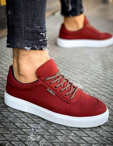 Dstreet.pl Sneakersy męskie bordowe ZX0151