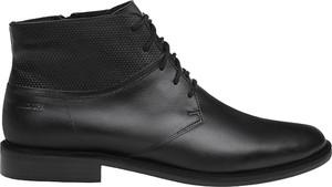 Czarne buty zimowe Badura sznurowane