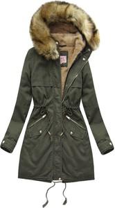 Zielona kurtka Mhm z bawełny