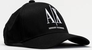 Czarna czapka Armani Exchange