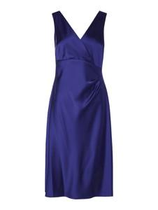 Sukienka Ralph Lauren z satyny z dekoltem w kształcie litery v bez rękawów