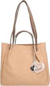 Torebka Chiara Design duża w stylu casual z breloczkiem
