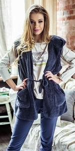 Granatowa piżama Key