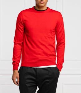 Czerwony sweter Hugo Boss z wełny