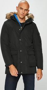 Czarny płaszcz męski Jack & Jones