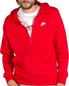 Czerwona bluza Nike w sportowym stylu z bawełny
