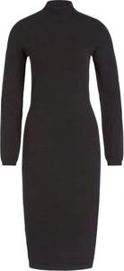 Czarna sukienka Marc O'Polo z długim rękawem midi dopasowana