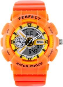 ZEGAREK MĘSKI PERFECT SHOCK (zp219f) - orange - Pomarańczowy