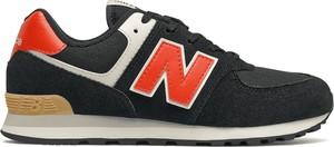 Czarne buty sportowe New Balance z zamszu z płaską podeszwą