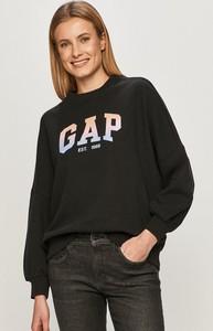 Czarna bluza Gap krótka z bawełny