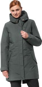 Zielony płaszcz Jack Wolfskin