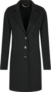 Czarny płaszcz Marella z wełny