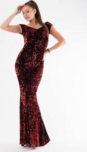 Sukienka Moda Dla Ciebie dopasowana maxi w stylu glamour