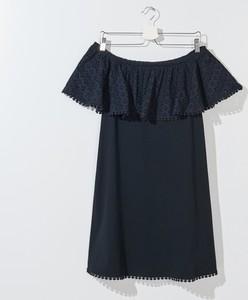 Granatowa bluzka Mohito w stylu casual z krótkim rękawem z bawełny