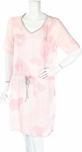 Różowa sukienka TBS z długim rękawem mini