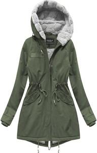 Zielona kurtka Speed.A z bawełny w militarnym stylu