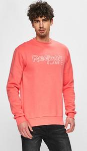 Różowa bluza Reebok Classic w młodzieżowym stylu z bawełny