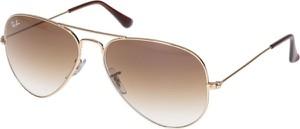Złote okulary damskie Ray-Ban