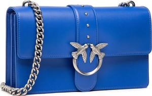Niebieska torebka Pinko mała matowa