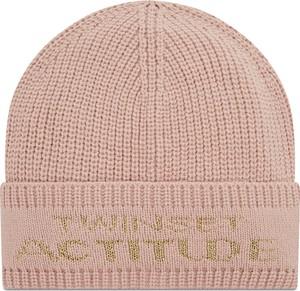 Różowa czapka Twinset