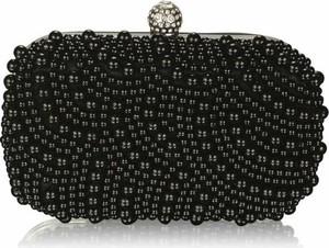 Czarna torebka Wielka Brytania z tkaniny do ręki