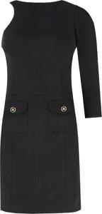 Czarna sukienka Elisabetta Franchi trapezowa mini