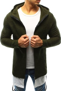 Zielony sweter dstreet bez wzorów