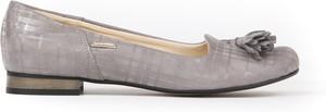 Baleriny Zapato z zamszu w stylu boho z płaską podeszwą