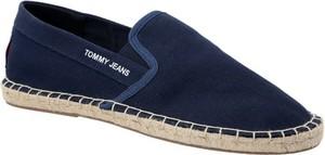 Buty letnie męskie Tommy Jeans w stylu retro z tkaniny