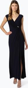 Granatowa sukienka Ralph Lauren maxi bez rękawów