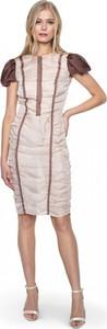 Sukienka ANETA KRĘGLICKA X L'AF z krótkim rękawem z jedwabiu