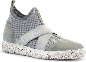 Buty sportowe Neścior w sportowym stylu z zamszu z płaską podeszwą