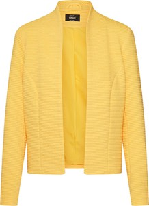 Żółta marynarka Only z tkaniny