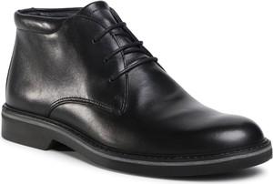 Czarne buty zimowe Imac sznurowane