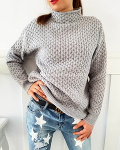 Sweter Latika z wełny w stylu casual