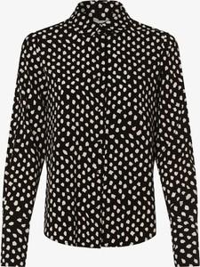 Czarna bluzka Essentiel Antwerp w stylu casual z długim rękawem z kołnierzykiem