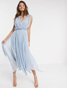 Sukienka Asos rozkloszowana z dekoltem w kształcie litery v