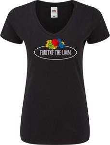 Bluzka Fruit Of The Loom w młodzieżowym stylu z bawełny z okrągłym dekoltem
