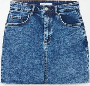 Niebieska spódnica Cropp z jeansu mini