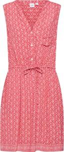 Czerwona sukienka Gap koszulowa bez rękawów