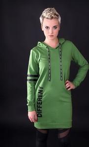 Zielona sukienka UNICUT z dzianiny