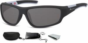Stylion Okulary dziecięce sportowe Unisex czarne matowe CS91